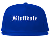 Bluffdale Utah UT Old English Mens Snapback Hat Royal Blue