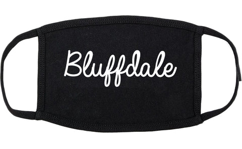 Bluffdale Utah UT Script Cotton Face Mask Black