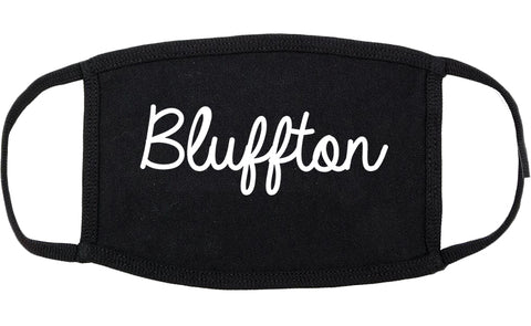 Bluffton Indiana IN Script Cotton Face Mask Black