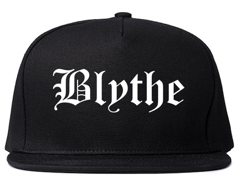 Blythe California CA Old English Mens Snapback Hat Black