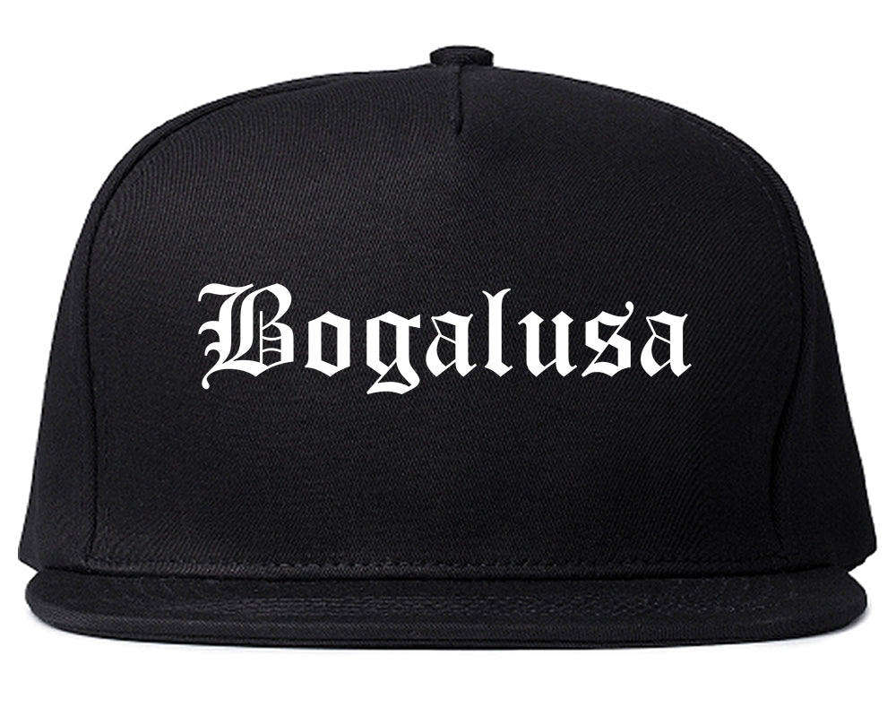 Bogalusa Louisiana LA Old English Mens Snapback Hat Black