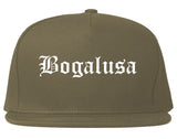 Bogalusa Louisiana LA Old English Mens Snapback Hat Grey