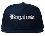 Bogalusa Louisiana LA Old English Mens Snapback Hat Navy Blue