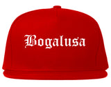 Bogalusa Louisiana LA Old English Mens Snapback Hat Red