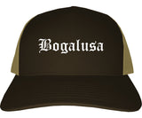 Bogalusa Louisiana LA Old English Mens Trucker Hat Cap Brown