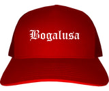 Bogalusa Louisiana LA Old English Mens Trucker Hat Cap Red