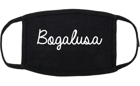 Bogalusa Louisiana LA Script Cotton Face Mask Black