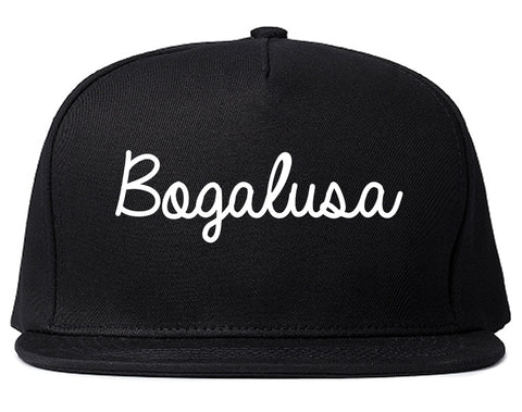 Bogalusa Louisiana LA Script Mens Snapback Hat Black
