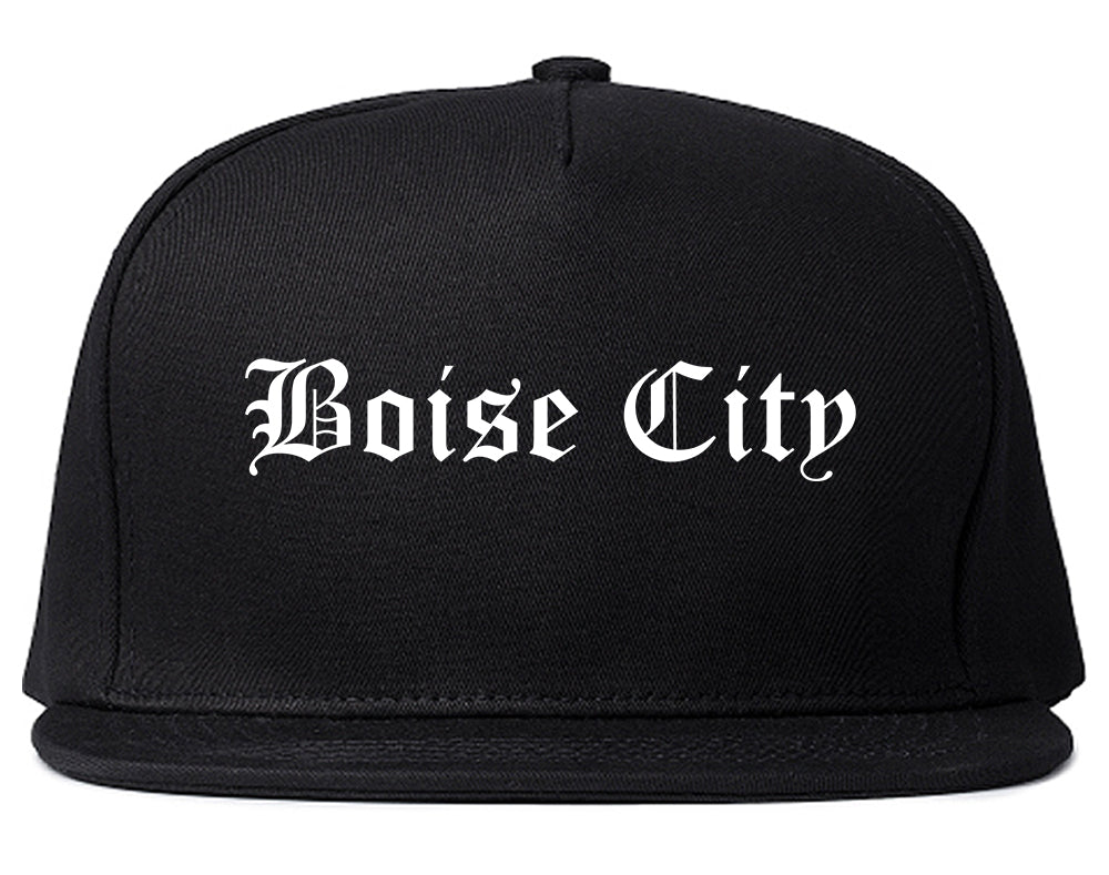 Boise City Idaho ID Old English Mens Snapback Hat Black