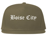 Boise City Idaho ID Old English Mens Snapback Hat Grey