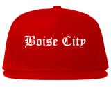 Boise City Idaho ID Old English Mens Snapback Hat Red