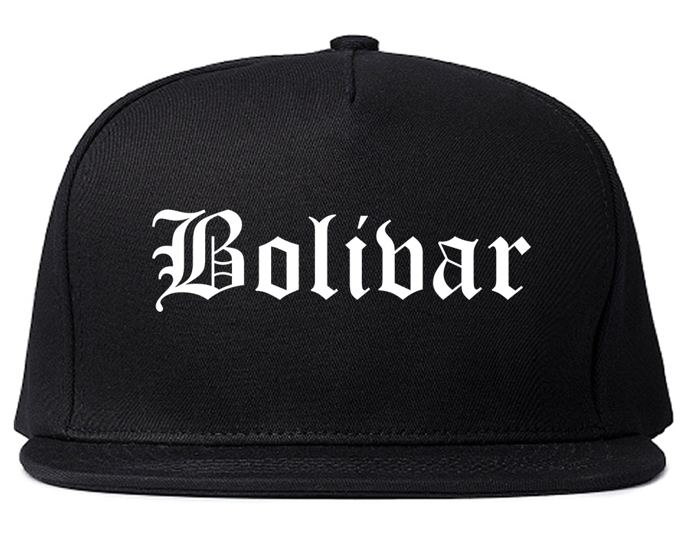 Bolivar Missouri MO Old English Mens Snapback Hat Black