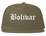 Bolivar Missouri MO Old English Mens Snapback Hat Grey