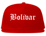 Bolivar Missouri MO Old English Mens Snapback Hat Red