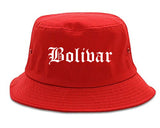 Bolivar Tennessee TN Old English Mens Bucket Hat Red