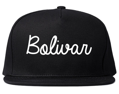 Bolivar Tennessee TN Script Mens Snapback Hat Black