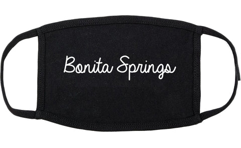 Bonita Springs Florida FL Script Cotton Face Mask Black