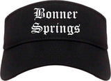 Bonner Springs Kansas KS Old English Mens Visor Cap Hat Black