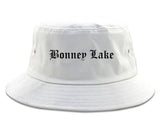 Bonney Lake Washington WA Old English Mens Bucket Hat White