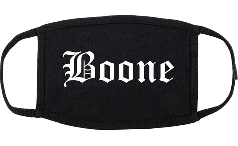 Boone Iowa IA Old English Cotton Face Mask Black