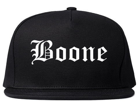 Boone Iowa IA Old English Mens Snapback Hat Black
