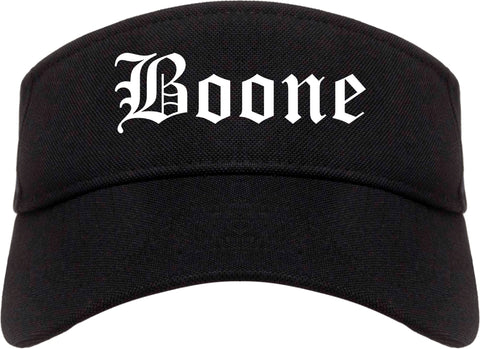 Boone Iowa IA Old English Mens Visor Cap Hat Black