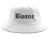 Boone Iowa IA Old English Mens Bucket Hat White