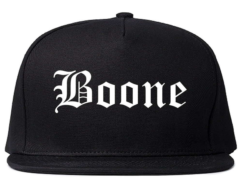 Boone North Carolina NC Old English Mens Snapback Hat Black