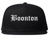 Boonton New Jersey NJ Old English Mens Snapback Hat Black