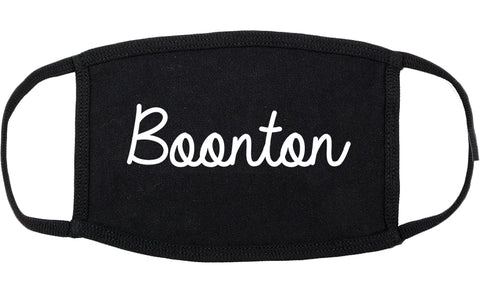 Boonton New Jersey NJ Script Cotton Face Mask Black