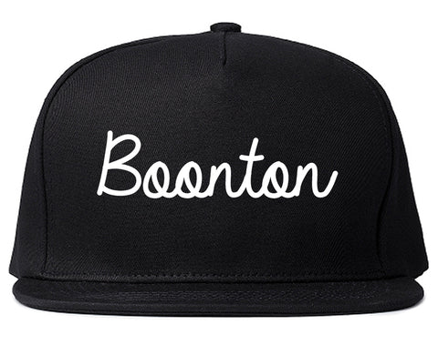 Boonton New Jersey NJ Script Mens Snapback Hat Black