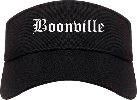Boonville Indiana IN Old English Mens Visor Cap Hat Black