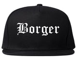 Borger Texas TX Old English Mens Snapback Hat Black