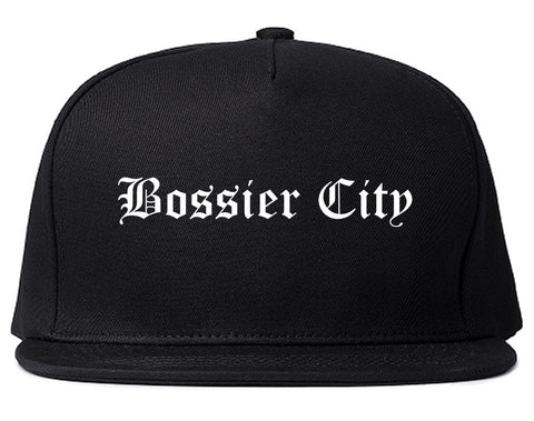 Bossier City Louisiana LA Old English Mens Snapback Hat Black