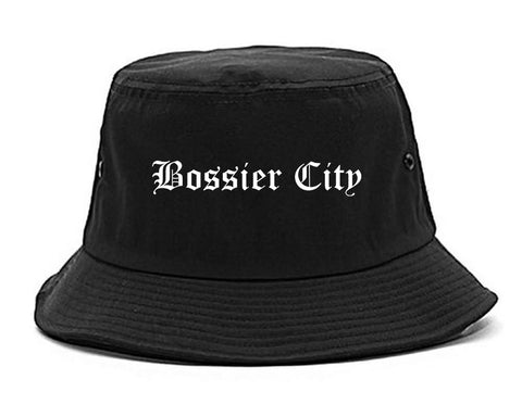 Bossier City Louisiana LA Old English Mens Bucket Hat Black