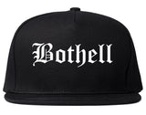 Bothell Washington WA Old English Mens Snapback Hat Black