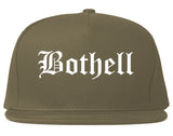 Bothell Washington WA Old English Mens Snapback Hat Grey