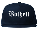 Bothell Washington WA Old English Mens Snapback Hat Navy Blue