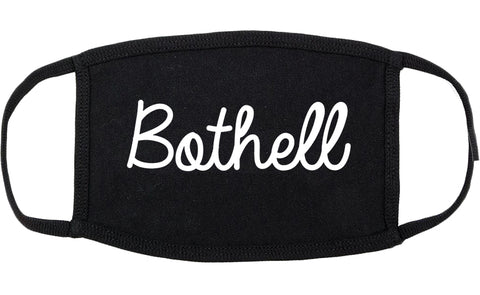 Bothell Washington WA Script Cotton Face Mask Black
