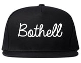Bothell Washington WA Script Mens Snapback Hat Black