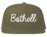 Bothell Washington WA Script Mens Snapback Hat Grey