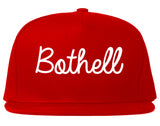 Bothell Washington WA Script Mens Snapback Hat Red