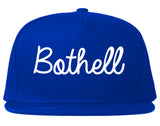 Bothell Washington WA Script Mens Snapback Hat Royal Blue