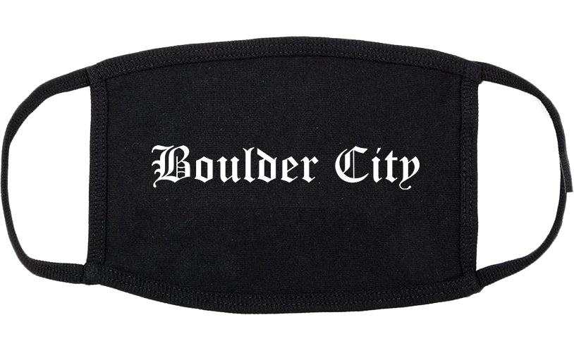 Boulder City Nevada NV Old English Cotton Face Mask Black