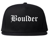 Boulder Colorado CO Old English Mens Snapback Hat Black
