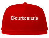 Bourbonnais Illinois IL Old English Mens Snapback Hat Red