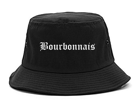 Bourbonnais Illinois IL Old English Mens Bucket Hat Black
