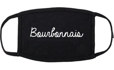Bourbonnais Illinois IL Script Cotton Face Mask Black
