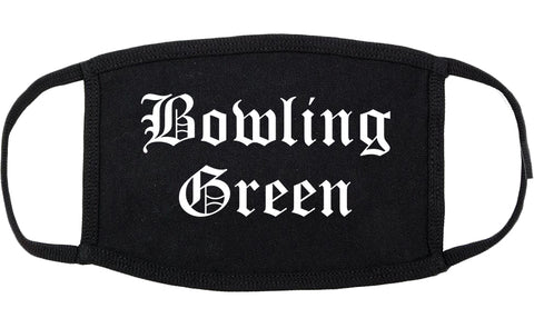 Bowling Green Kentucky KY Old English Cotton Face Mask Black