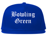 Bowling Green Kentucky KY Old English Mens Snapback Hat Royal Blue